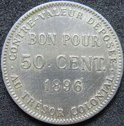 Reunion 50 Centimes 1896 - Réunion