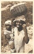Native Girl (femme Et Enfant) - Curaçao (Caraïbes) - Neth. W. Indies - Carte Non Circulée - Amérique