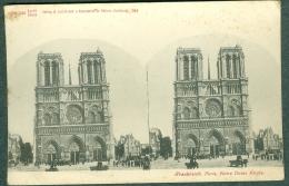 FRANCE PARIS - Carte Stéréo Fin XIXème Notre-Dame, Verlag & Lichtdruck Knackstedt & Näther Hamburg - Churches