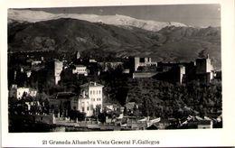 GRANADA - Alhambra - Vista General - Granada