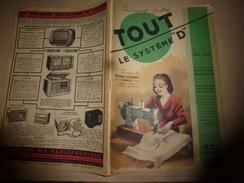 1949 TLSD :Faire >Ouverture Dans Un Mur;Traiter Une Plante(curieux);Alambic Domestique;Moule-agglos;Faux-bois-peint;etc - Bricolage / Technique