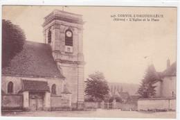 Nièvre - Corvol L'Orgueilleux - L'église Et La Place - Otros Municipios