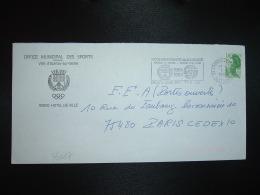 LETTRE TP LIBERTE DE GANDON 1,70 OBL.MEC.7-9-1984 EPINAY SUR SEINE PPAL (93) OFFICE MUNICIPAL DES SPORTS - Postmark Collection (Covers)