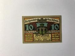 Allemagne Notgeld Bad Kosen 10 Pfennig - [ 3] 1918-1933 : République De Weimar