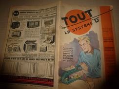 1949 TLSD : Soudure Elec;Scooter;Jouet-bateau à Aubes;Appareil Faux Rayon X;Billard Russe;Photo Amusante; Sifflet;etc - Bricolage / Technique