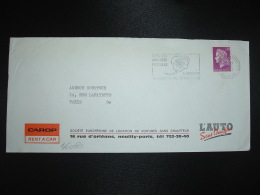 LETTRE TP MARIANNE DE CHEFFER 0,30 OBL.MEC.6-7-1968 NEUILLY SUR SEINE PPAL (92) CAROP RENT A CAR L'AUTO SANS CHAUFFEUR - Non Classés