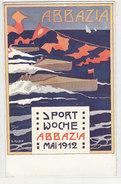 Abbazia - Settimana Sportiva 1912 - Cartolina Artistica Firmata       (A-47-160126) - Advertising