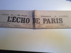 L'ECHO DE PARIS,  16 Septembre 1905, QUOTIDIEN - Giornali