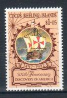 COCOS (KELLING) Island 1992-- Cristoforo Colombo  --  ( Yvert 250) -- **MNH /VF - Isole Cocos (Keeling)