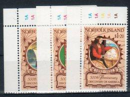 Norfolk Island 1992-- Cristoforo Colombo  --  ( Yvert 510/12) -- **MNH /VF - Isola Norfolk