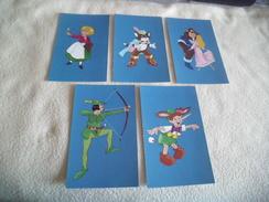LOT DE 5 CARTES MONDE FABULEUX DES COMTES... - Cartoline