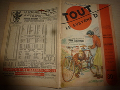 1950 TLSD : Comment ->Tandem Transformable;Moteur-jouet;Girouette Animée;Football De Table;Béton Armé;Extract.-miel;etc - Bricolage / Technique