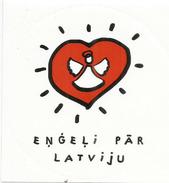 """Autocollant / Adhesif: """"Les Anges Sur La Lettonie/Latvia"""" - Magnets"""