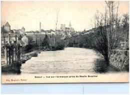 21 SEMUR - Vue Sur L'Armançon Prise Du Moulin Brazilier  (Recto/Verso) - Semur
