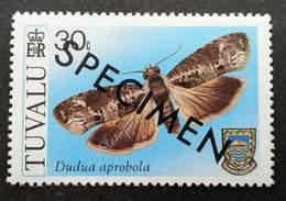 Tuvalu Moths 1980 Insect Moth Butterflies (stamp) MNH *Specimen *rare *toning - Tuvalu