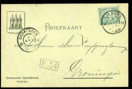 HANDGESCHREVEN BRIEFKAART Uit 1904 Gelopen Van TILBURG Naar GRONINGEN (10.638b) - Periode 1891-1948 (Wilhelmina)