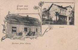 Litho AK Gruß Ringenhain Vetrov Gasthaus Hannig Schule Bei Friedland Frydlant Dittersbach Raspenau Kunnersdorf Zittau - Sudeten