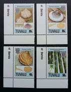Tuvalu Seashell Fossils 1990 Sea Shell Marine (stamp With Corner Margin) MNH *rare - Tuvalu