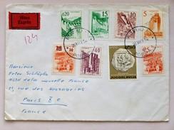 YOUGOSLAVIE / JUGOSLAWIEN => FRANKREICH / FRANCE // Express-Brief, 1966, Von ROVINJ Nach PARIS, Mischfrankatur - 1945-1992 République Fédérative Populaire De Yougoslavie