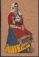 Carte En Liège Costume Sarde  Tamponi Persico Calangianus - Costumes