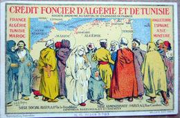 BANQUES CREDIT FONCIER ALGERIE ET TUNISIE PUBLICITE ILLUSTREE - Banks