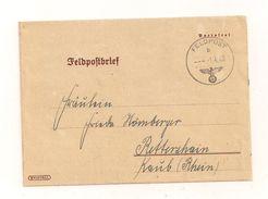 Feldpost-Falzbrief Samt Inhalt 1.4.1940 Von FP-Nr. 17183 D Nach Rettershain - Storia Postale