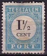 1881-1887 Portzegels Lichtblauw / Zwart Cijfer : 1½ Cent Kamtanding 13½ : 13¼ NVPH  P 4 A III Ongestempeld - Tasse