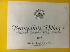 4416 - Beaujolais-Villages 1989 Sélection Grands Vins Globus - Beaujolais