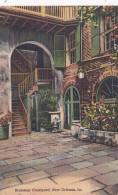 Louisiana New Orleans Brulatour Courtyard Curteich - New Orleans