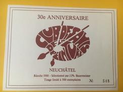 4425 - Club Des Amis De La Peinture Neuchâtel Suisse 1988 Tirage 500 Exemplaires - Art