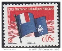 TAAF 2008 Yvert 496 Neuf ** Cote (2015) 0.20 Euro Drapeau Des TAAF - Terres Australes Et Antarctiques Françaises (TAAF)