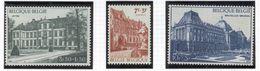 BELGIUM 1971 Palaces, Scott Catalogue No(s). B876-B878, MNH - Unused Stamps