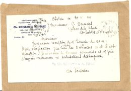 49  CHOLET  CH  LOISEAU & A FEREZ   DEMENAGEMENTS TRANSPORTS ROUTIERS 156  RUE  NATIONALE - Cholet