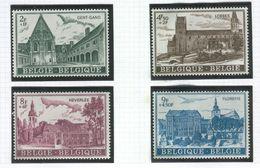 BELGIUM 1972 Church, Abbeys; Scott Catalogue No(s). B897-B900, MNH - Unused Stamps