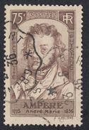 FRANCE Francia Frankreich - 1936 - Yvert 310 Obliterato, 75 Cent., Bruno. - Oblitérés