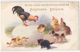 (chats) 128, SW Comique Séries 3826, Chats Humanisés, Pâques, état - Chats