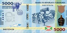 Burundi (BRB) 5000 Francs 2015 UNC Cat No. P-53a / BI239a - Burundi