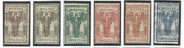 "ITALIAN COLONY Tripolitania 1926 ""Peace"" Substituting Spade For Sword, Scott Catalogue No(s). B7-B12 MH - Tripolitania"
