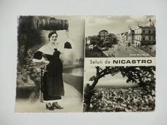 CATANZARO - Lamezia Terme - Saluti Da Nicastro - 3 Vedute - Costume Tipico - Folklore - 1956 - Lamezia Terme