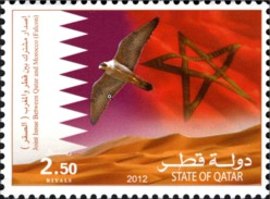 2012 - Maroc  Qatar - ** MNH - Faucon Emission Commune - Qatar