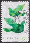 Australia 2015 Christmas 65c Type 4 Non Foil Self Adhesive Good/fine Used [34/29140/ND] - 2010-... Elizabeth II
