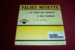 MUSETTE RETRO  DISQUE RESERVE POUR LES PROFESSIONNELS  / ANDRE VERCHUREN - Musicals