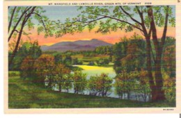 Mount Mansfield And Lamoille River, Green Mountains Of Vermont - United States