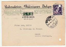 Commercial Card * Belgium * Laboratoires Galéniques Belges * 1946 * Lessines * Holed - Publicités