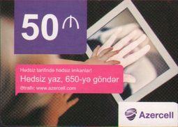 Azercell Recharge Card, Hand,sample Card - Azerbaïjan