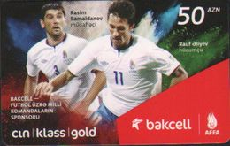 Bakcell Recharge Card,AFFA Football Players,sample Card - Azerbaïjan