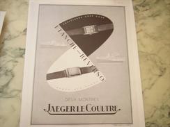 ANCIENNE PUBLICITE 2 MONTRES ETANCHE-REVERSO JAEGER 1940 - Bijoux & Horlogerie