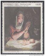"1211 Paraguay 1969 Natale Christmas "" Madonna And Child "" Quadro Dipinto Da G. C. Procaccini Nuovo MNH Painting Tableau - Madonna"