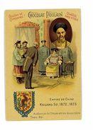 CHROMO IMAGE CHOCOLAT POULAIN  SOUVERAINS ET CHEFS D'ETATS CHINE KOUANG-SU 1872 - Poulain