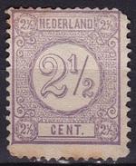 1876-1894 Cijfertype 2½ Cent Lila NVPH 33 (*) - Ongebruikt